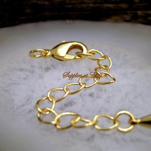 Stick Chain Nickel free 1m Stick 21mm CJ46-08 Stylish adjustment chain 16K gold plated brass 1mm thick