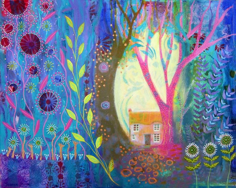 Bright and beautiful art print from my original mixed media image 0