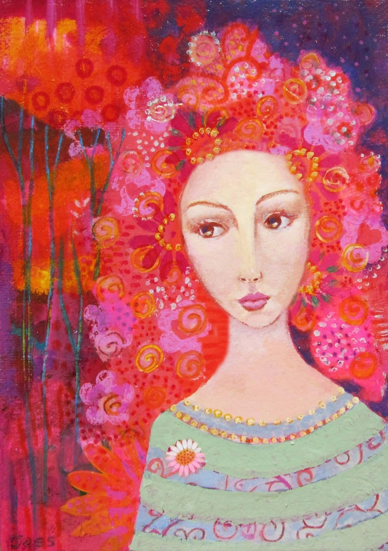 Colourful art print from my mixed media painting wall art image 0