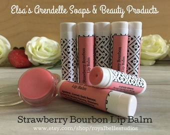 Stawberry Bourbon Flavored Lip Balm