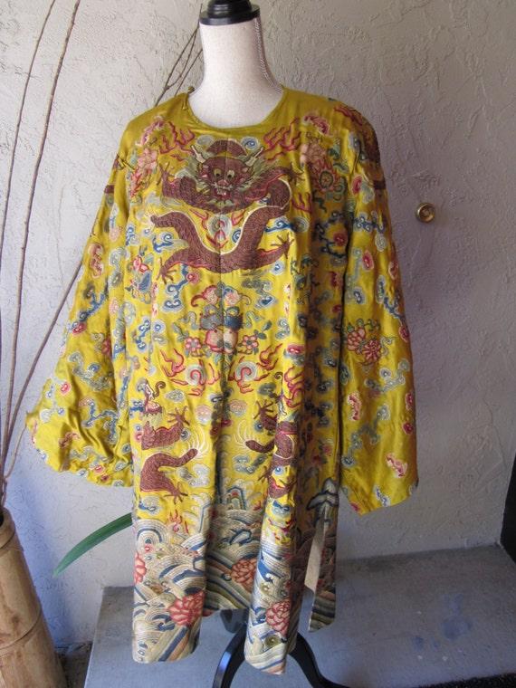 À la main Vintage tissu veste chinoise de la À dynastie des Han. feac43