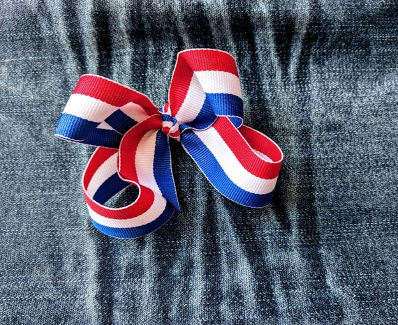Fourth of July hair bow red white and blue hair bow Independence Day freedom America hair clip hair accessory!