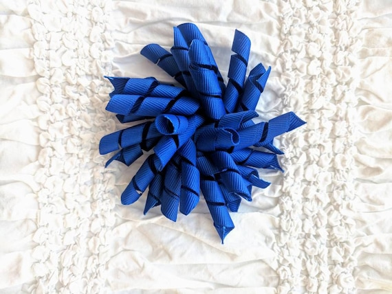 Blue 4 inch Korker Hair Bow