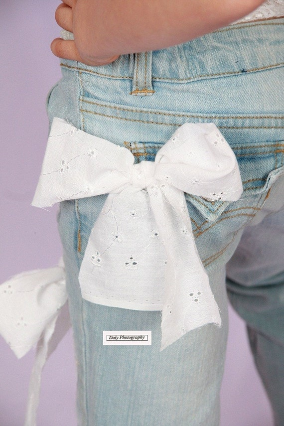 Eyelet Heart Decorated Jeans You choose size