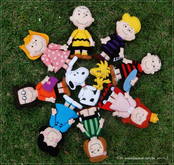 Peanuts Characters Pdf Pattern Charlie Brown Snoopy And Etsy