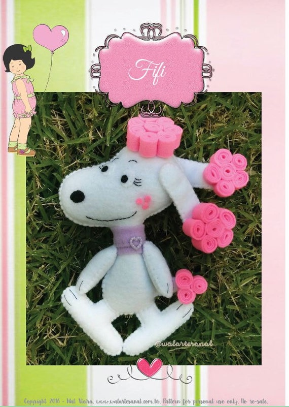 Entzückende Fifi inspiriert PDF-Muster Snoopy Freundin | Etsy