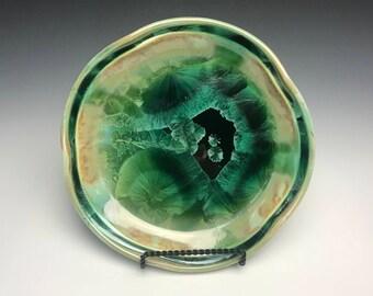 Green Crystalline Plate