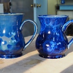 Cobalt Crystalline Mugs