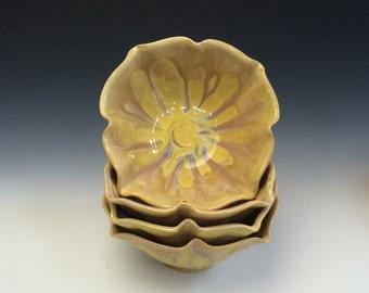 Sunshine Yellow Lotus Bowl
