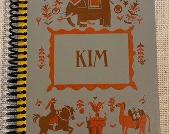 """A """"Kim"""", Recycled Vintage Book into Journal/Sketchbook"""