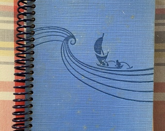 """1935-"""" The Hurricane """" - Recycled Vintage Book into Journal/Sketchbook"""