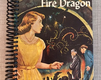 """NANCY DREW- """" The Mystery of the Fire Dragon"""", Recycled Vintage Book into Journal/Sketchbook"""