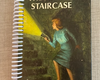 """Nancy Drew- """" The Hidden Staircase"""" Recycled Vintage Book into Journal/Sketchbook"""