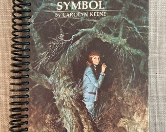 """NANCY DREW - """"The Witch Tree Symbol""""  , Recycled Vintage Book into Journal/Sketchbook"""