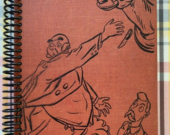 """1943- """"Money in the Bank""""- Recycled Vintage Book into Journal/Sketchbook"""