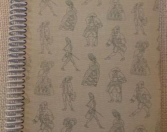 """The  """"Rivals and the School for Scandal"""", Recycled Vintage Book into Journal/Sketchbook"""