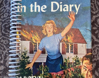 NANCY DREW The Clue in the Diary , Recycled Vintage Book into Journal/Sketchbook