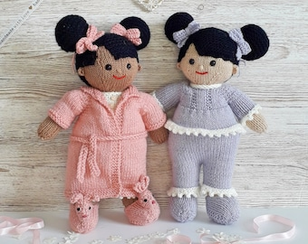 Sweet dreams Lilly and May Dolls Printed Knitting Pattern