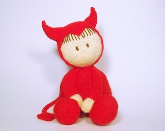 Halloween Jo-Jo doll Printed knitting pattern