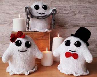 Happy Halloween Ghosts knitting Pattern
