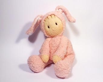 Bunny Jo-Jo Doll Knitting Pattern