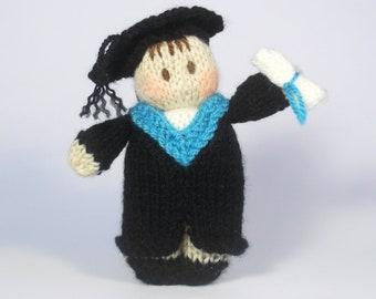 Graduation Bitsy Baby doll knitting pattern