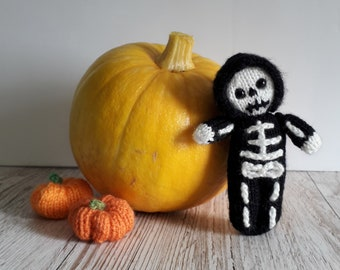Little Skeleton Doll Printed knitting pattern