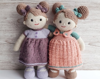 Lilly and May Dolls Printed Knitting Pattern