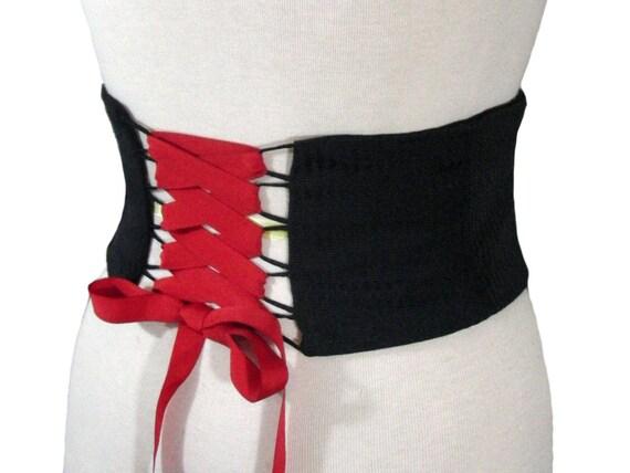 9fe668ec499 Black Obi Belt   Custom Corset Belt   Made to Order   Straight