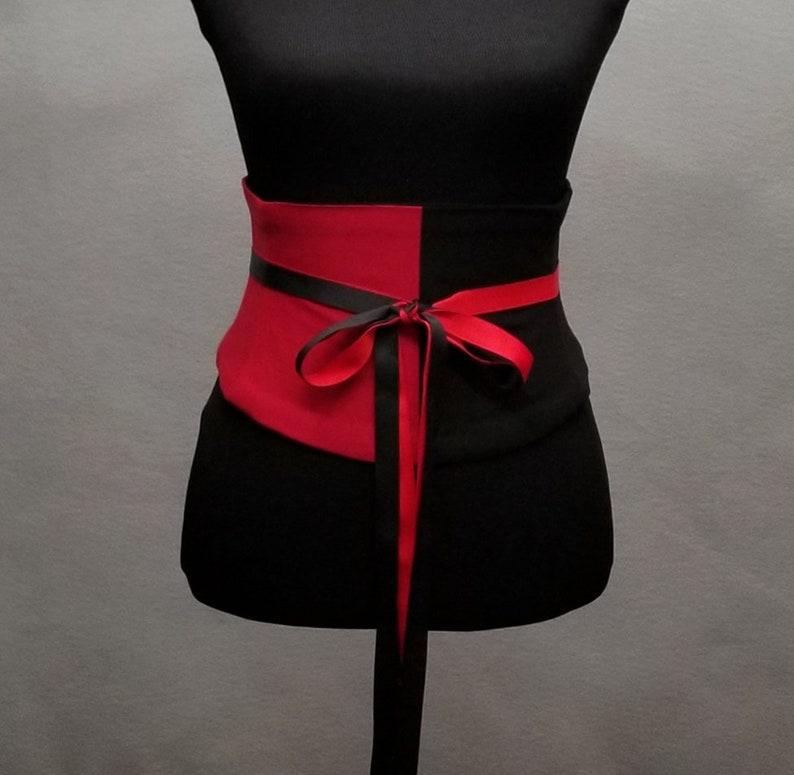 dd81edf87f Split Personality Corset   Black and Red   Waist Cincher Belt