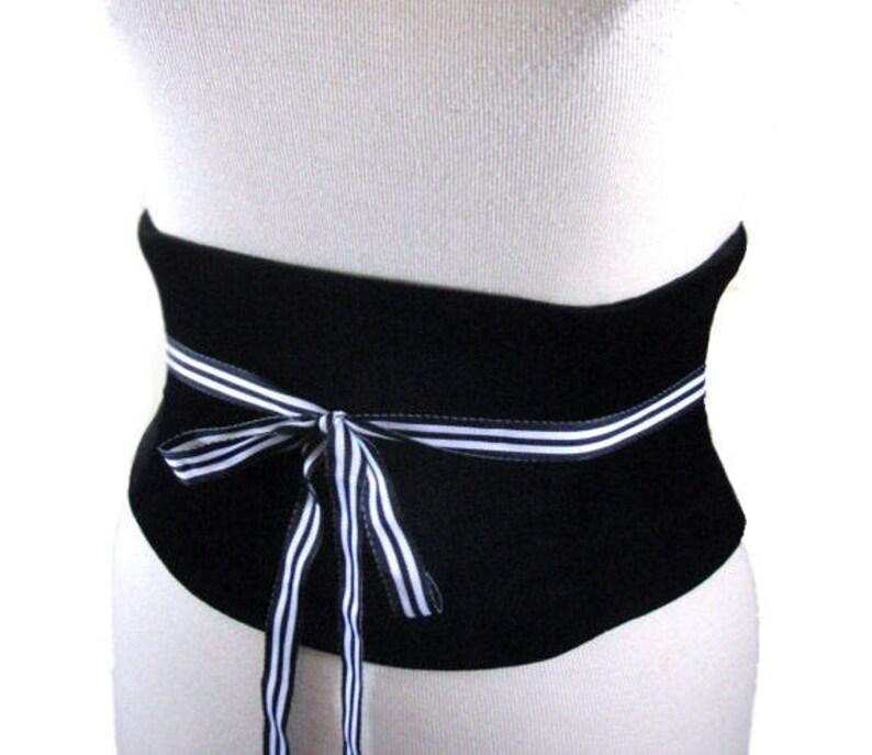 9d6b3c8b6c964d Velvet Corset Belt   Black Underbust Waist Cincher   Obi Belt