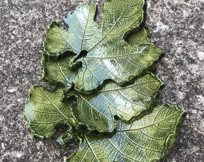 Grape leaf dishes