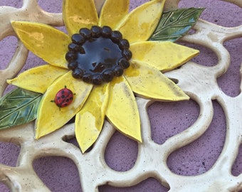 Sunflower~ fruit bowl-bread basket-home decor