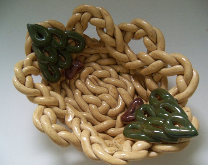 Tiny Braided Bowl with Tiny Trees