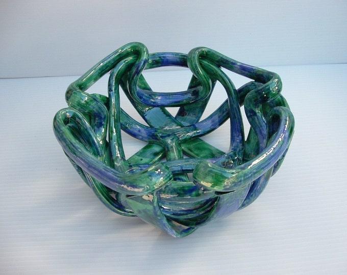 Contemporary pottery bowl -fruit bowl- bread warmer- home decor