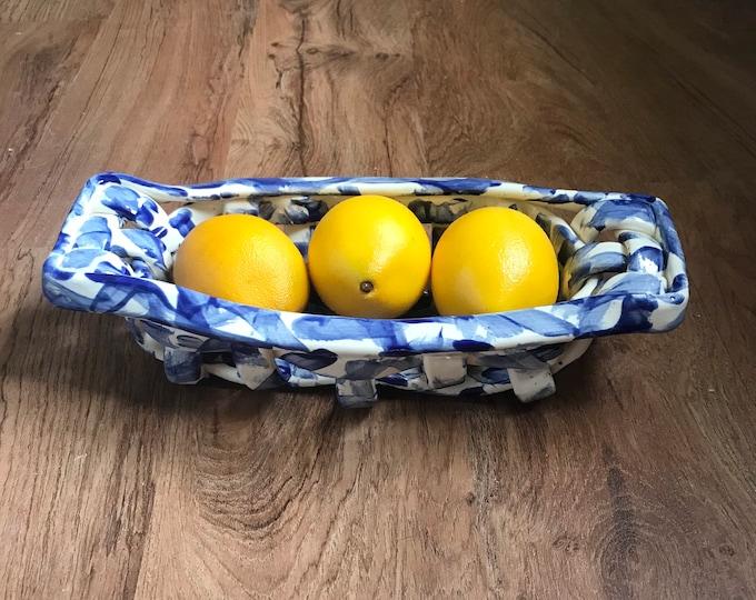 Ceramic bread basket
