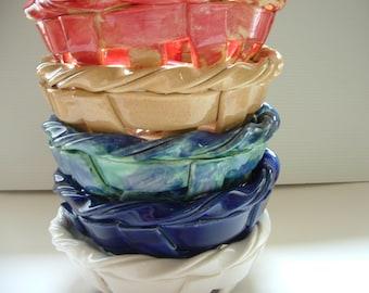 Woven pottery bowl-bread warmer-bread baker-fruit bowl-centerpiece-home decor