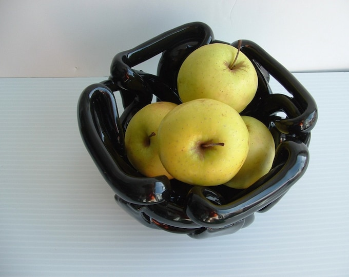 Pottery fruit Bowl -bread warmer -decorative accent- orchid pot