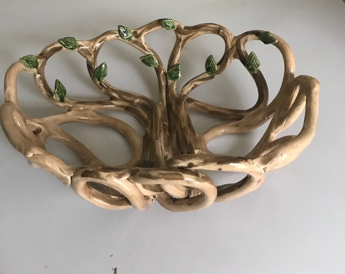 Tree of life -handcrafted fruit bowl