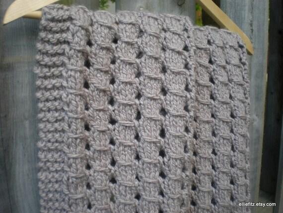 Chunky Lace Baby Blanket Knitting Pattern Pdf Pattern Knit
