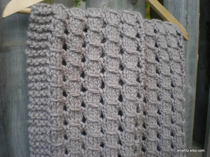 Chunky Lace Baby Blanket Knitting Pattern Pdf Pattern Knit Etsy