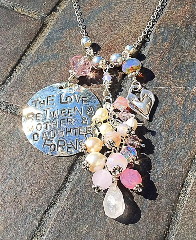 The Love Between a Mother & Daughter is Forever Hand-Stamped image 0