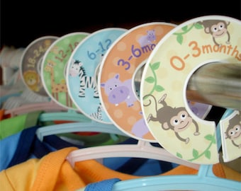 Baby Closet Dividers - Safari Jungle Zoo Animals for Boys and Girls