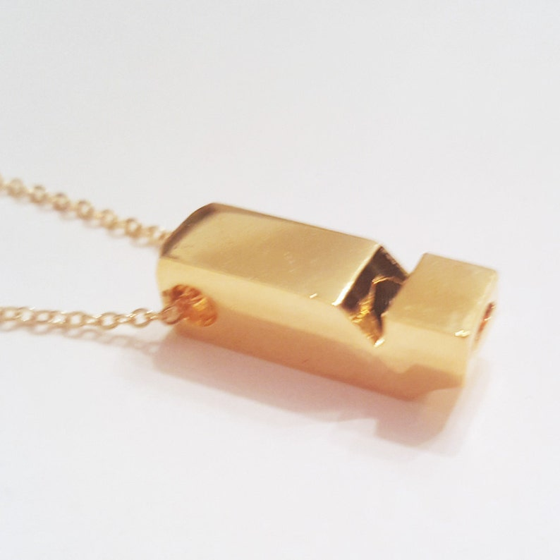 YOU Wet My Whistle  Working Tiny Mini Vintage Gold-Plated image 0