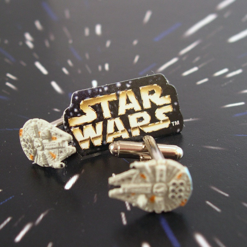Star Wars Cufflinks  Tiny Millennium Falcon Toys from the image 0