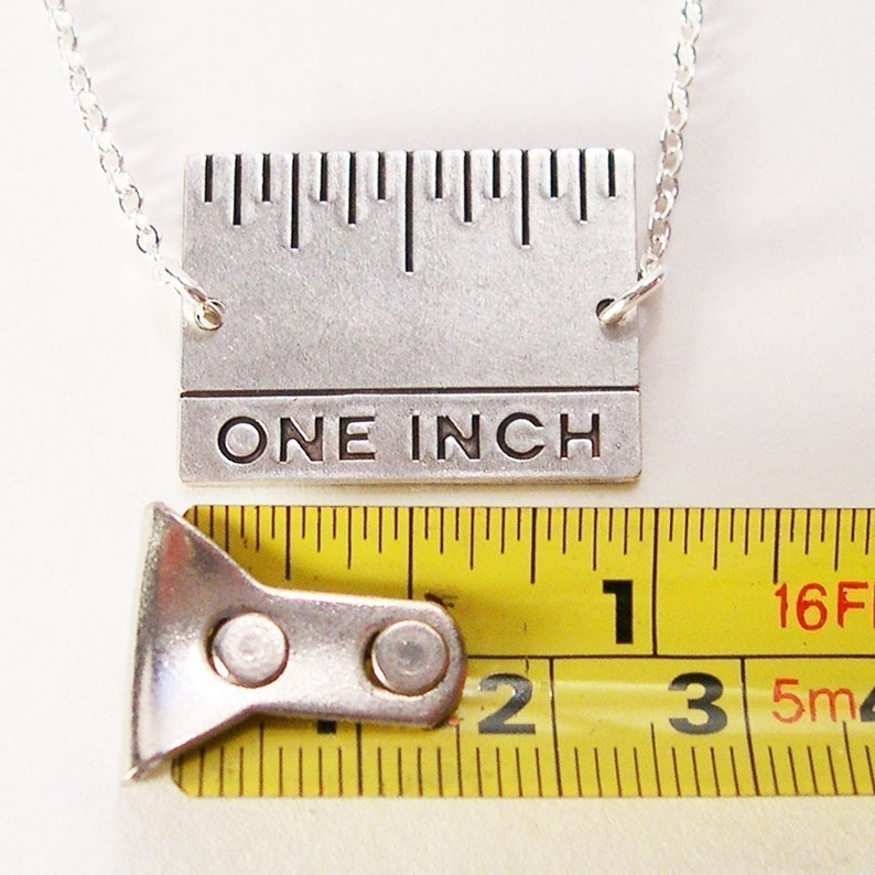 Give Me An Inch  Real Inch Ruler Necklace image 0
