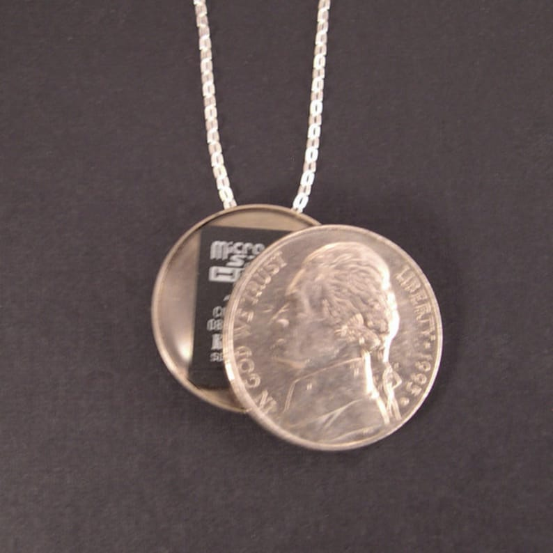 Secret Compartment Necklace  Sterling Silver Chain Real image 1
