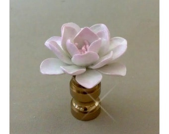 Lotus Lamp Finial Hand Crafted in Custom Colors