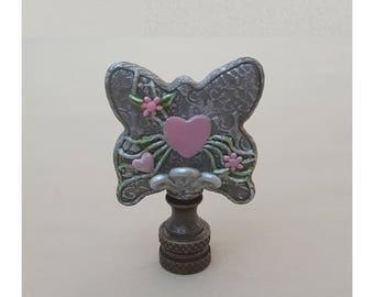 Embossed Filigree Butterfly Lamp Finial