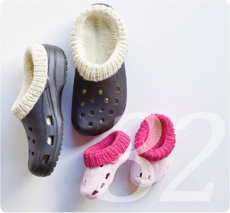 Croc-Socks Strickanleitung Socken für Crocs handgestrickt zum image 0